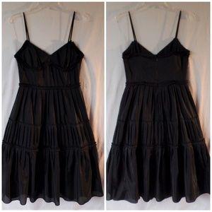 0ec3ab39139 Ann Taylor Dresses - Ann Taylor LOFT Black Silk Cotton Tiered Dress 6P
